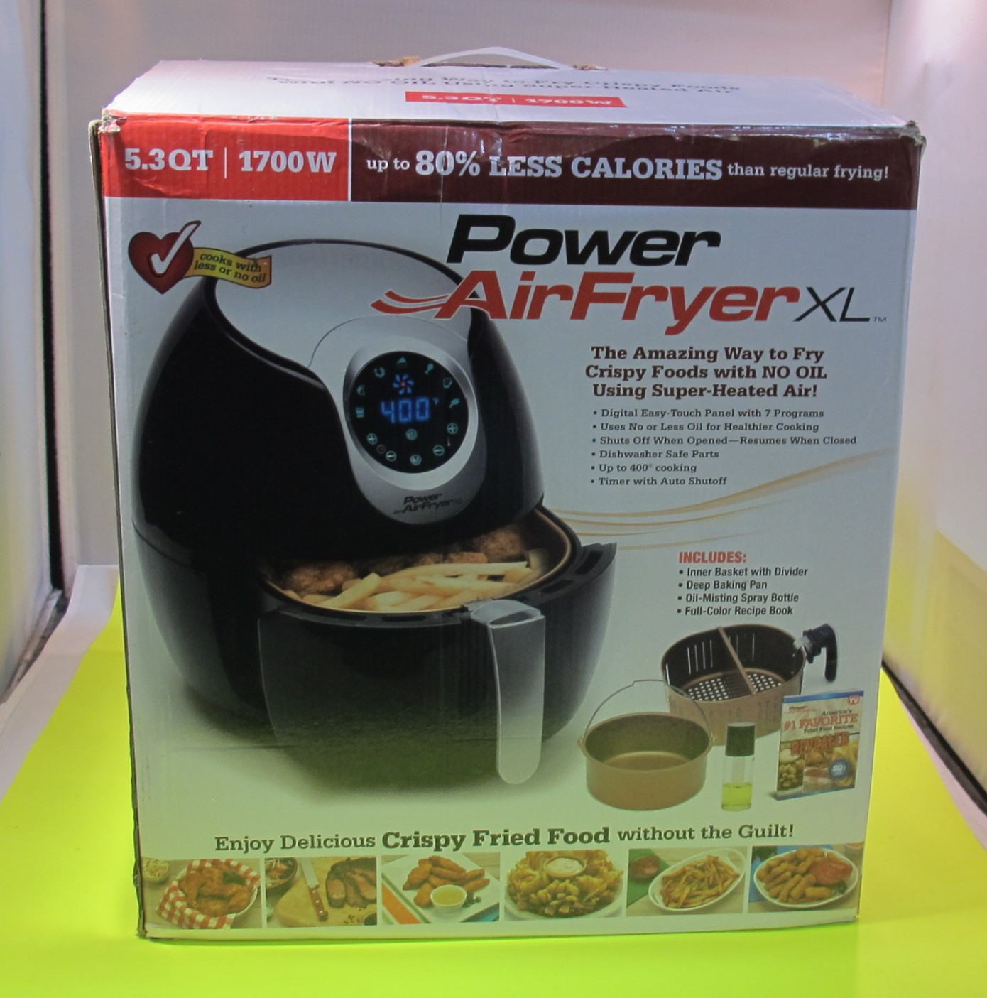 Details about Power AirFryer XL 10W Style Fry Pot Airfryer - Black - power air fryer xl healthy recipes