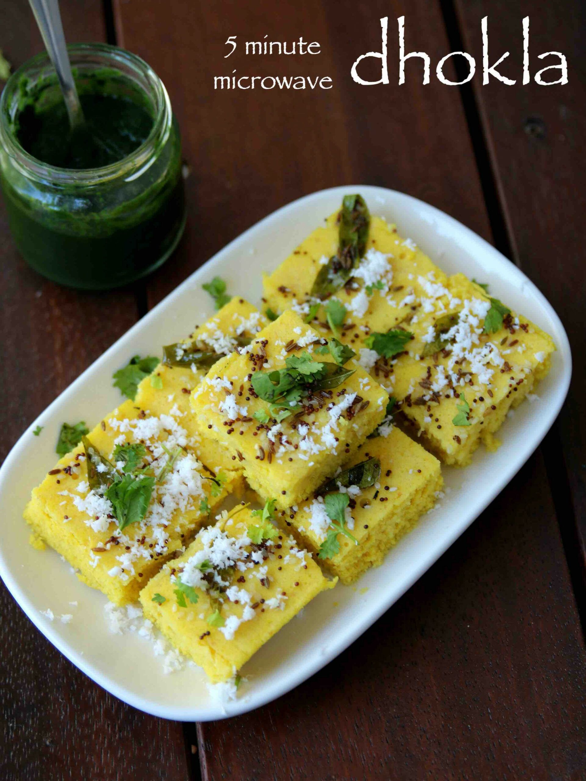 dhokla in microwave | instant dhokla recipe | microwave gujarati dhokla - dinner recipes gujarati