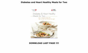 Diabetes And Heart Healthy Meals For Two By Champmails12 ..