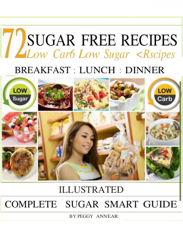 Diabetes Ebook:72 sugar free recipes low carb low sugar ..