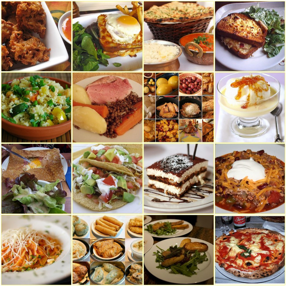 Different types of food - recipes of mexican food