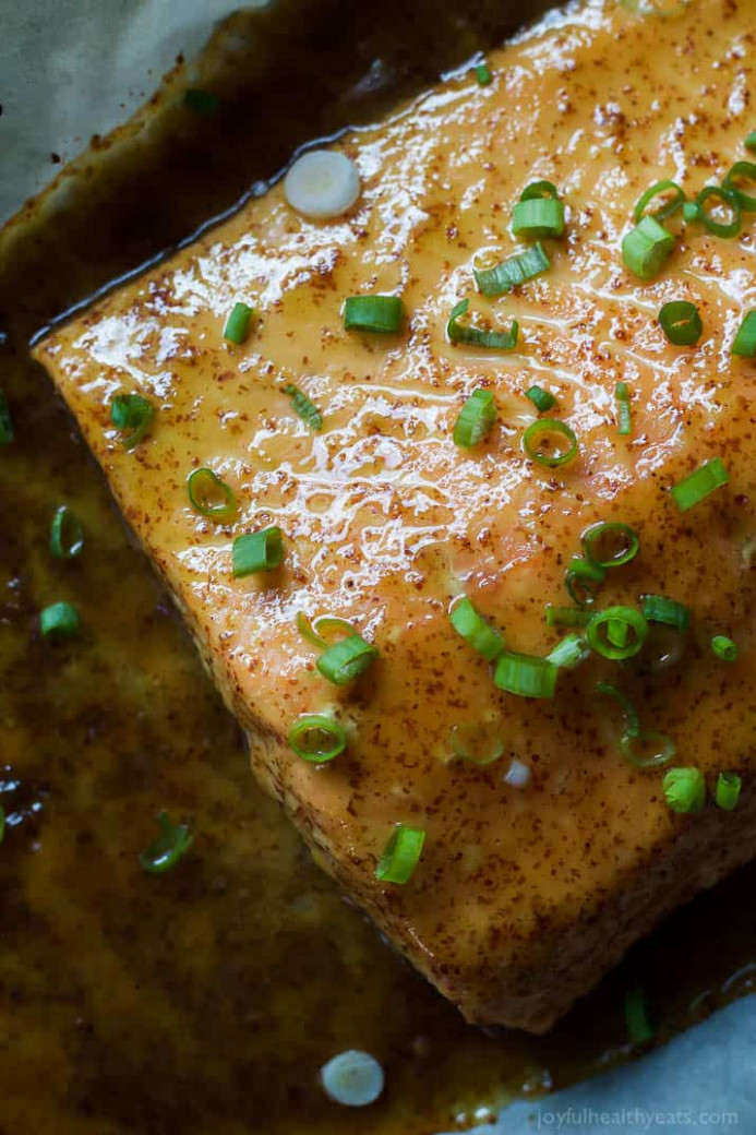 Dijon Maple Glazed Salmon | Easy Healthy Recipes - easy and healthy dinner recipes