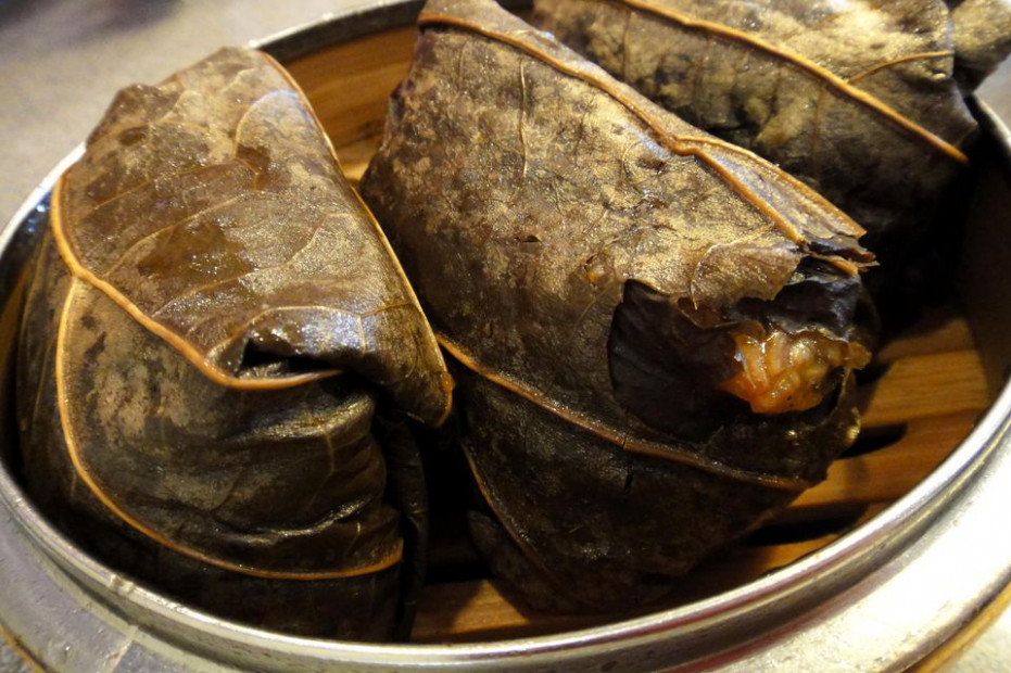 Dim Sum Lotus Leaf Wraps or Lo Mai Gai Recipe with Chicken - wrap recipes chicken