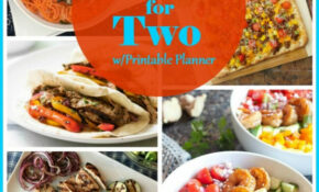 Dinner for Two Easy Recipes with Printable Menu | Meals for ...