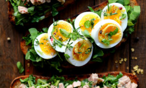 Dinner Toasts With Tuna Salad, Egg & Greens – Egg Recipes Dinner
