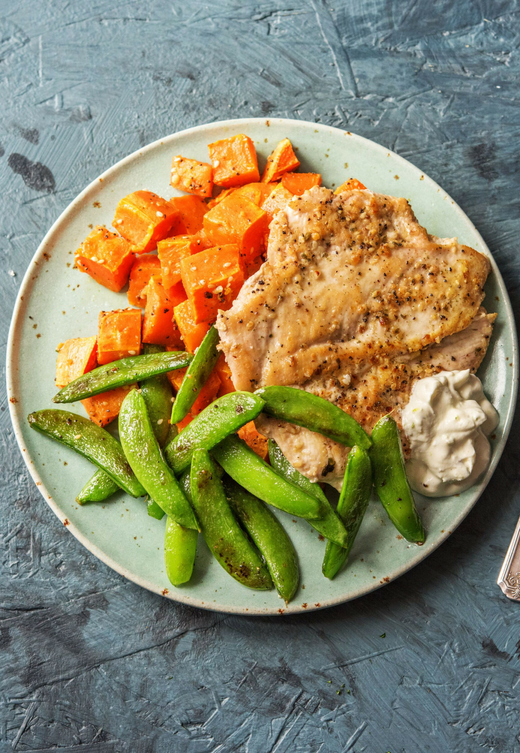 Do The Dukkah Chicken With Sweet Potatoes And Snap Peas - Chicken Recipes Hello Fresh