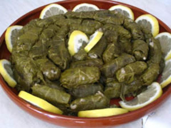 Dolmades Stuffed Grape Leaves Recipe | Just A Pinch Recipes - recipe vegetarian grape leaves
