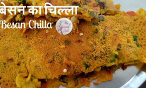 Download Thumbnail For Besan Ka Chilla Recipe In HINDI ..