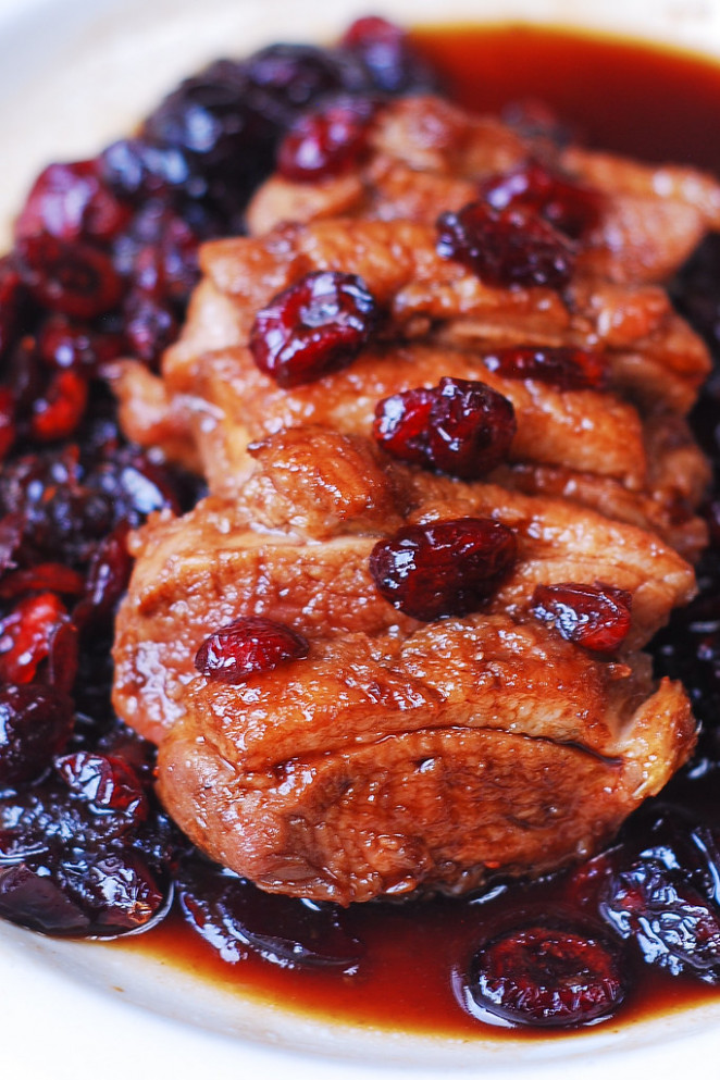 Duck Breast With Cranberry Sauce - Recipes Christmas Dinner