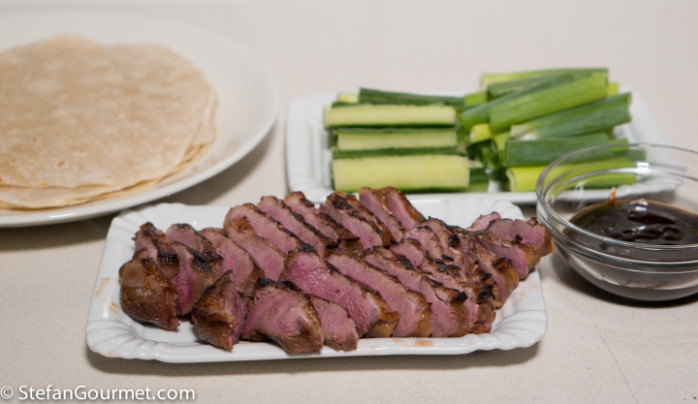 Duck Breast with Hoisin and Pancakes – Stefan's Gourmet Blog - vegetarian recipes using hoisin sauce