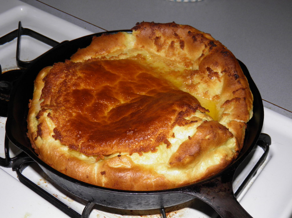 Dutch Baby Pancake Just Out Of The Oven - recipes using baby food
