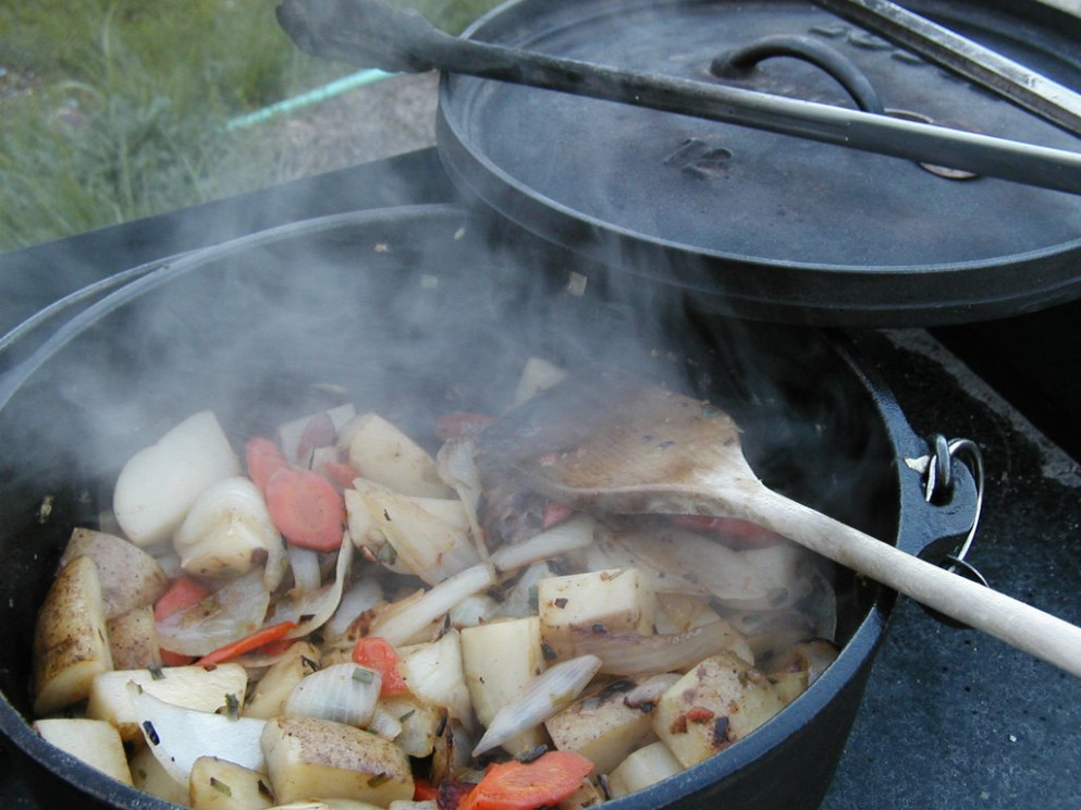 Dutch Oven Chicken And Potatoes | OutdoorFeeds - Dutch Oven Recipes Chicken Breast
