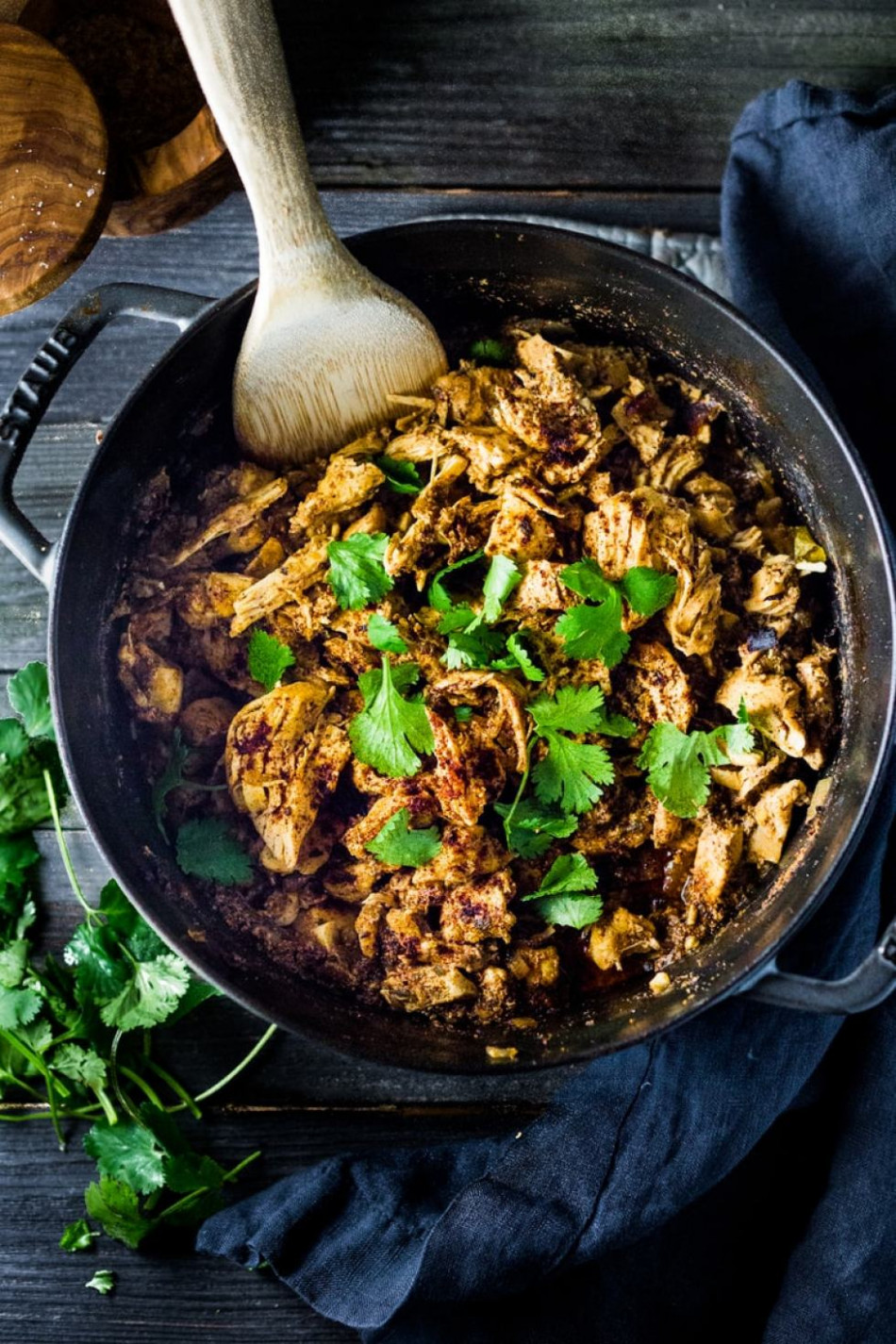 Dutch Oven Chicken Carnitas - 3 Ways | Feasting At Home - chicken recipes dutch oven