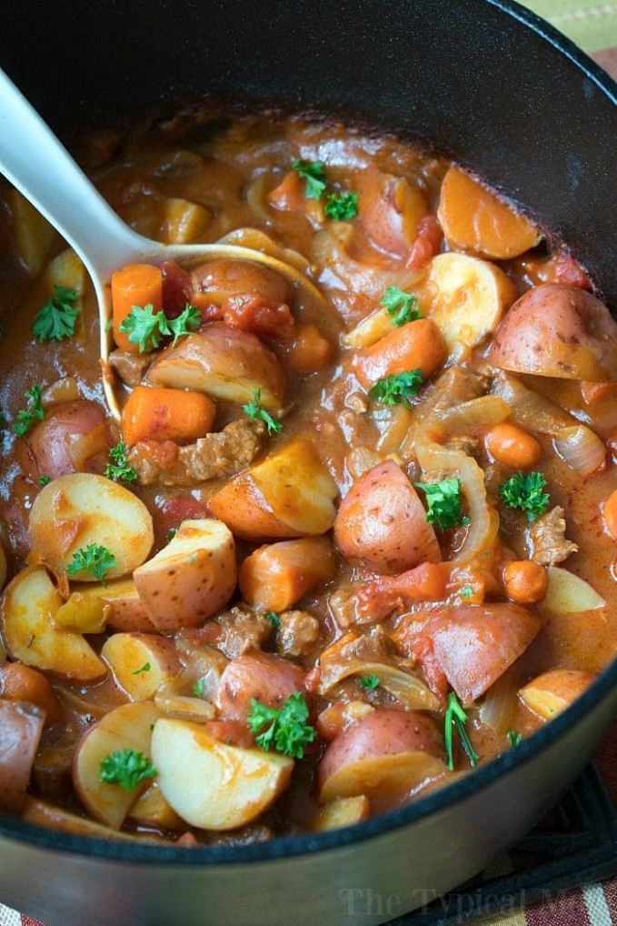 Dutch Oven Stew · The Typical Mom - oven recipes dinner