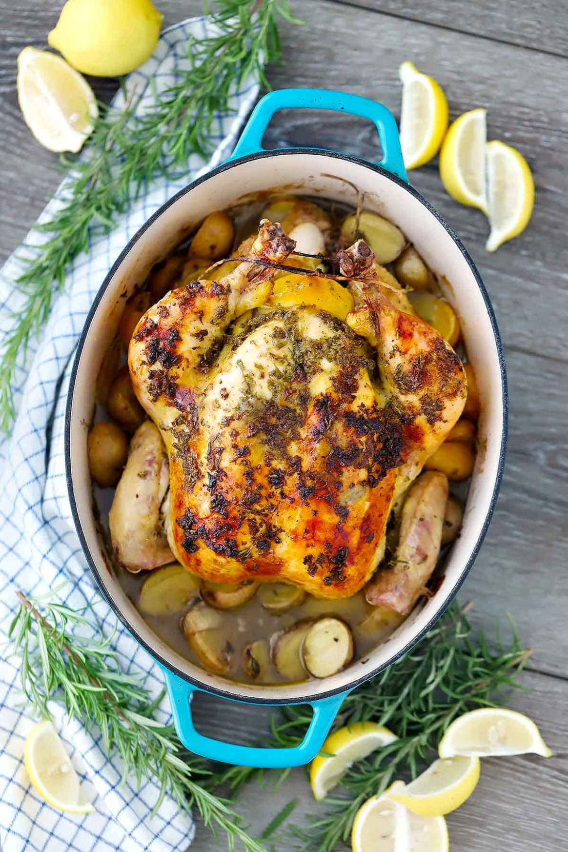 Dutch Oven Whole Roast Chicken - rosemary recipes chicken