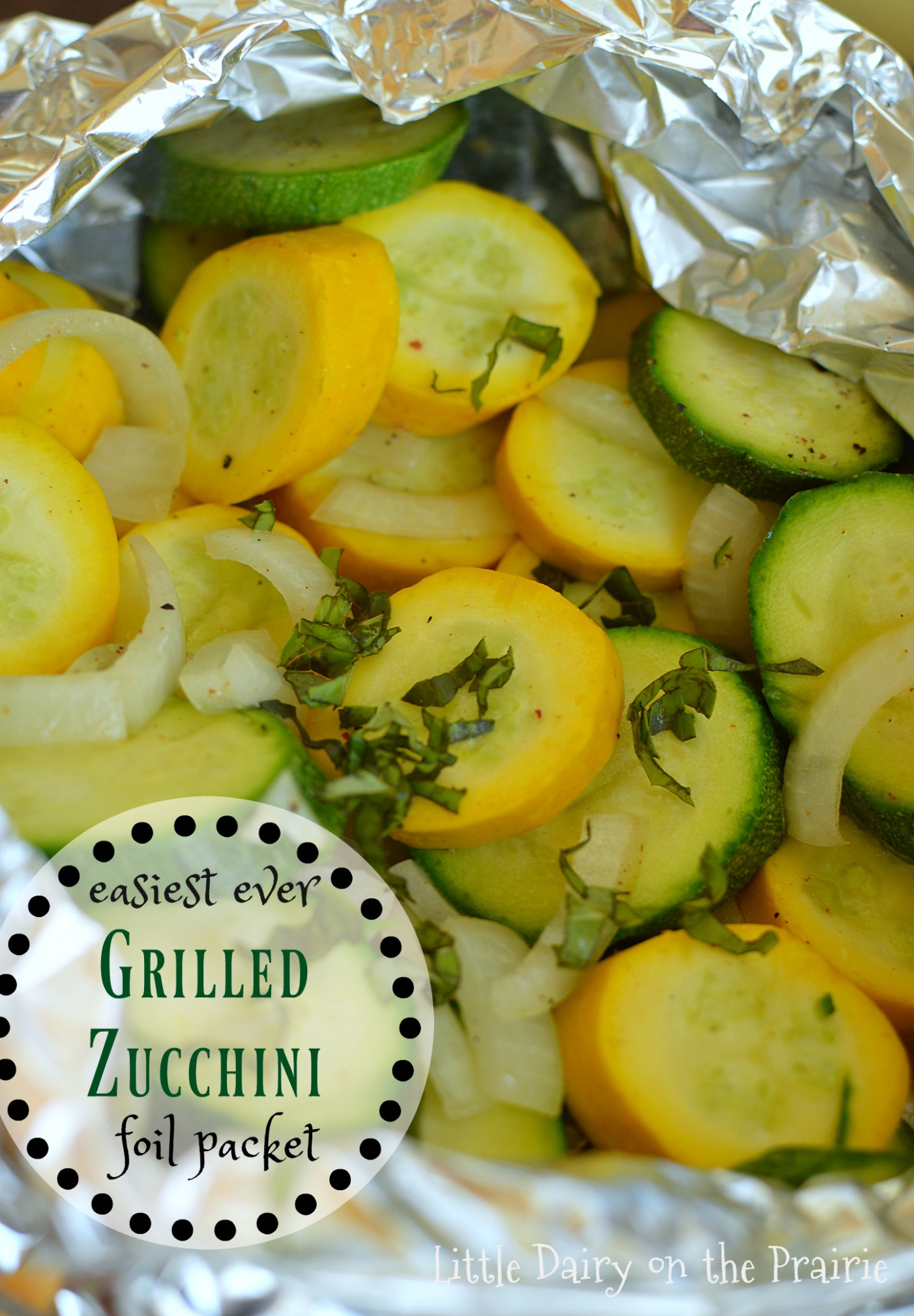 Easiest Ever Grilled Zucchini Packet - vegetarian recipes on the grill