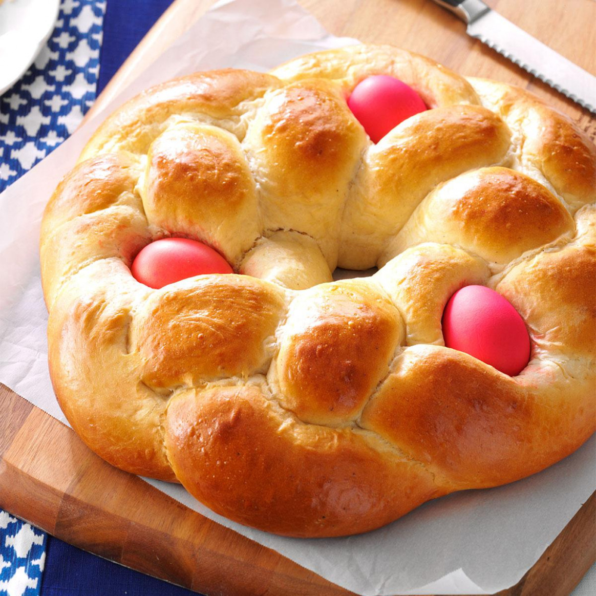 Easter Egg Bread Recipe | Taste of Home - egg recipes dinner