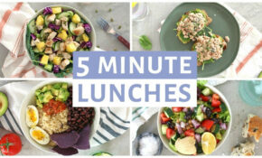 EASY 10 Minute Lunch Recipes | Healthy Lunch Ideas – Food Recipes Easy Healthy