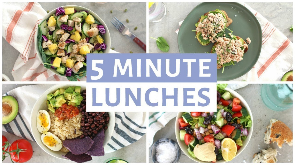 EASY 10 Minute Lunch Recipes | Healthy Lunch Ideas - food recipes easy healthy