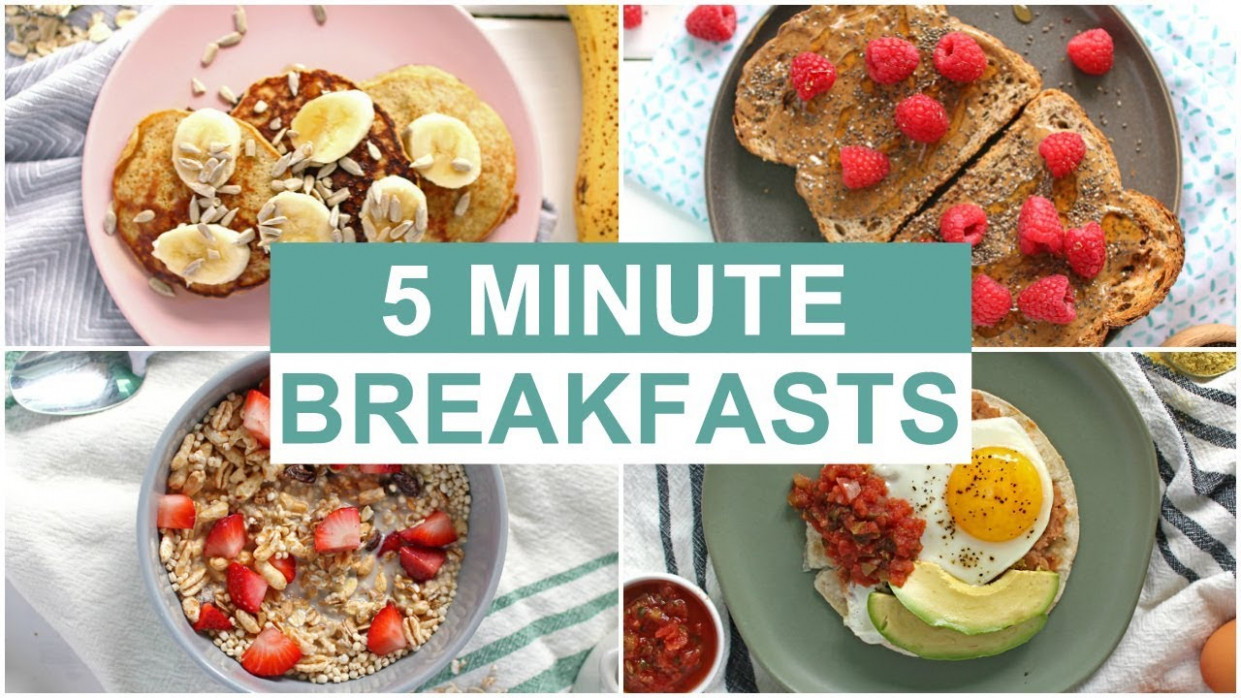 EASY 11 Minute Breakfast Recipes | Healthy Breakfast Ideas - food recipes healthy easy