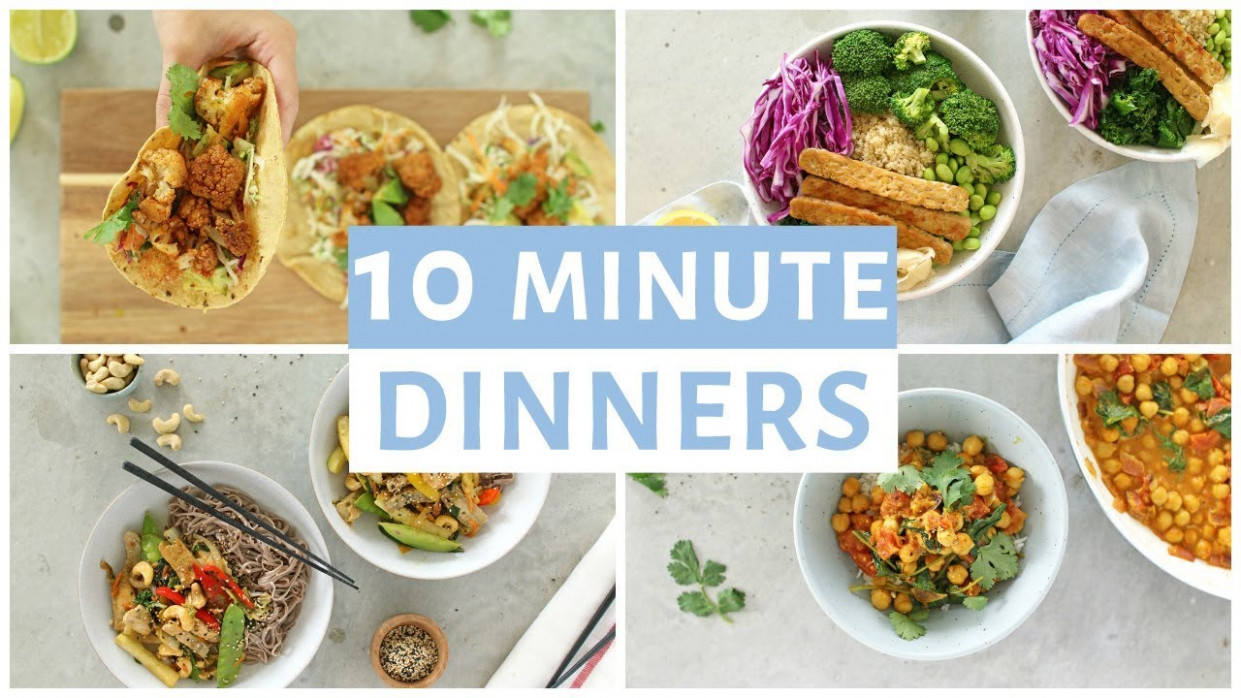 EASY 11 Minute Dinner Recipes | Healthy Dinner Ideas - recipes and ideas for dinner