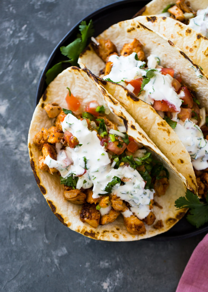 Easy 12 Minute Chicken Tacos - simple food recipes