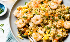 Easy 12-Minute Shrimp Fried Rice | Healthy Nibbles