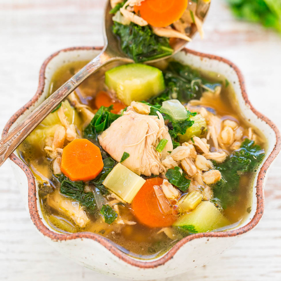Easy 14-Minute Chicken Vegetable Soup - recipes of chicken soup