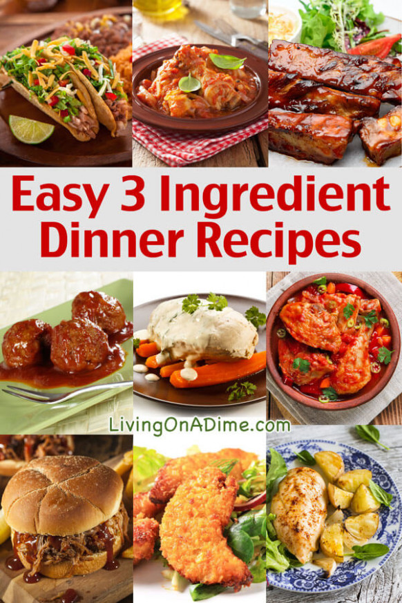 Easy 3 Ingredient Dinner Recipes - Delicious Meals Fast! - recipes dinner fast