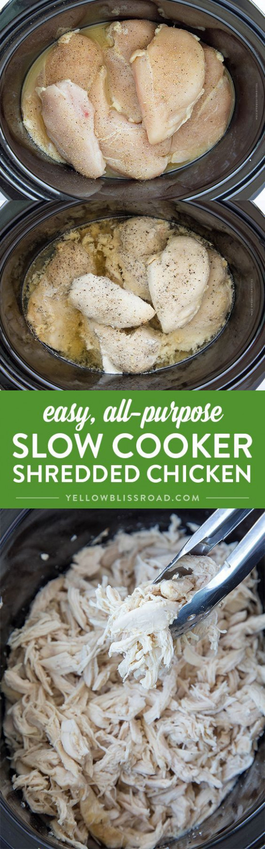 Easy, All-Purpose, Slow Cooker Shredded Chicken | Recipe ..