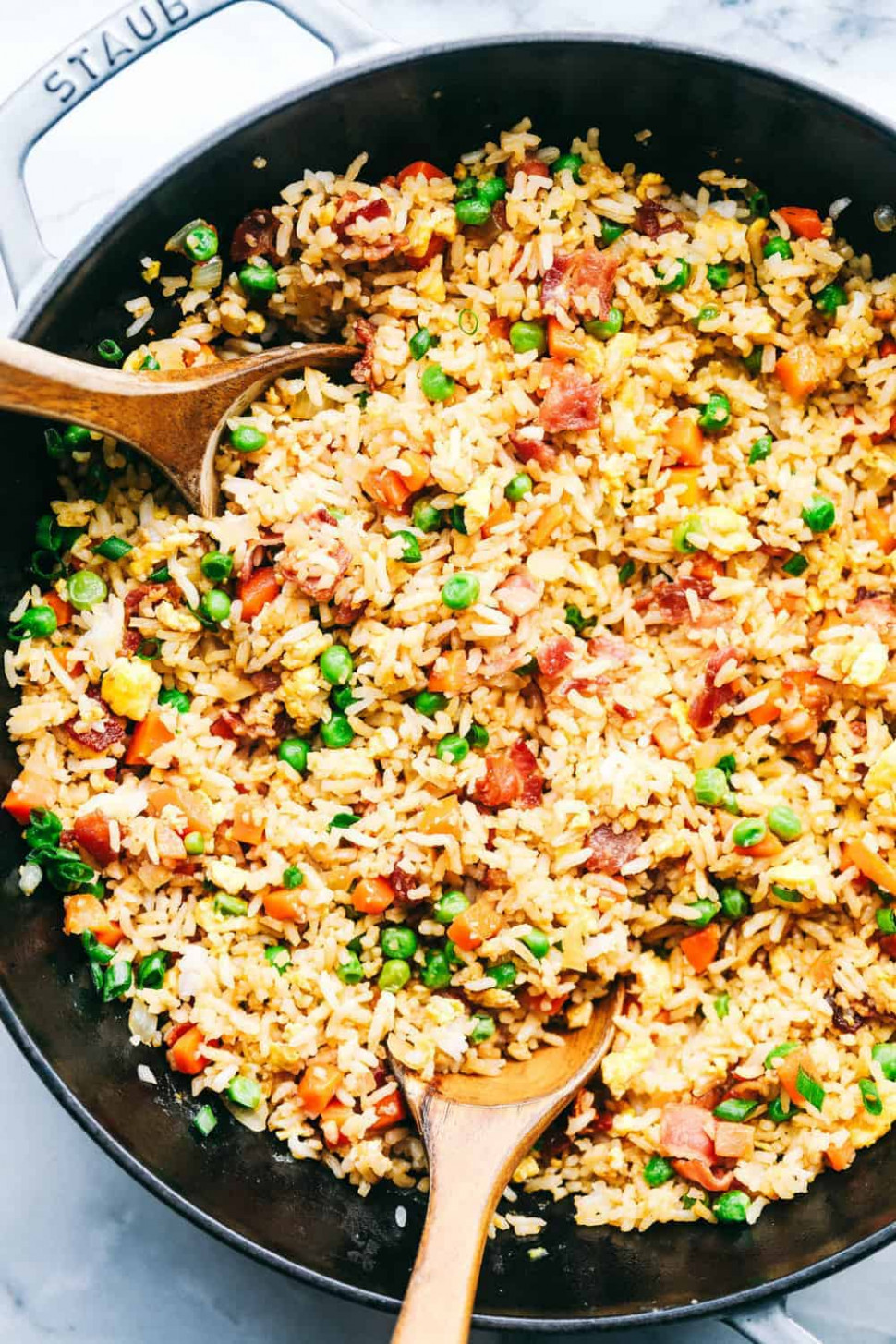 Easy Bacon Fried Rice - Dinner Recipes Using Bacon