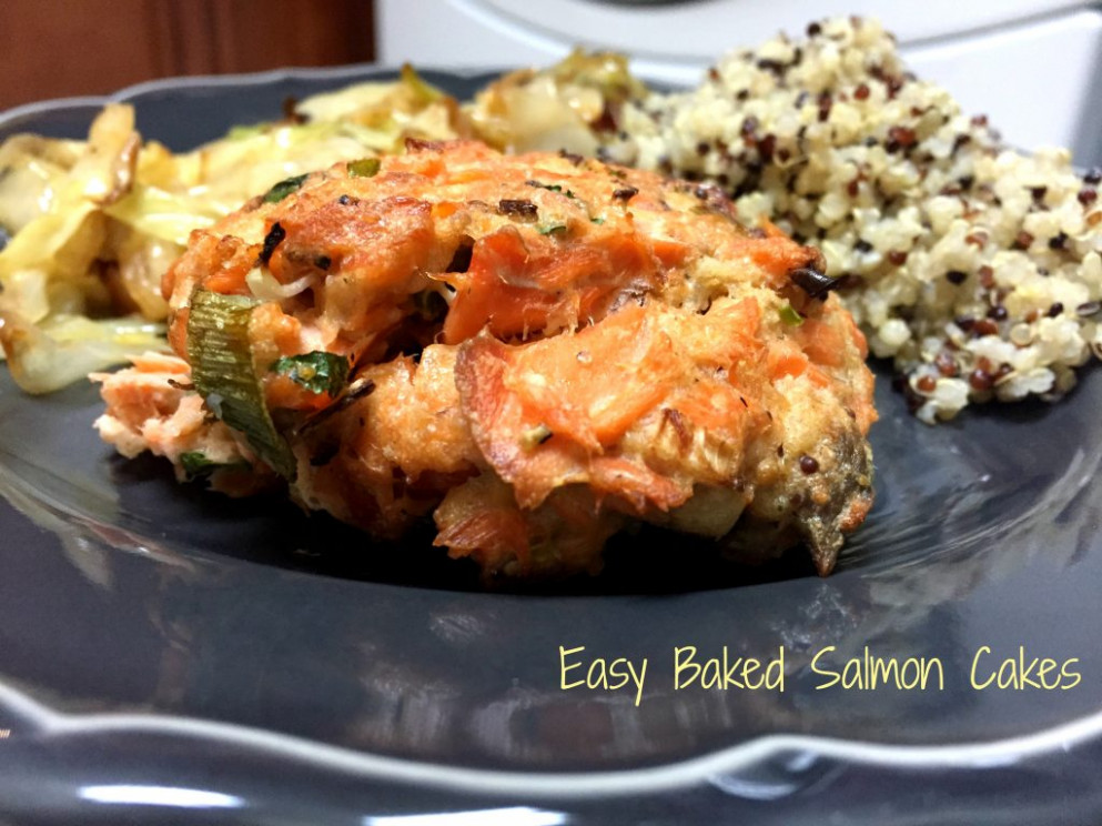 Easy Baked Salmon Cakes - seafood recipes dinner