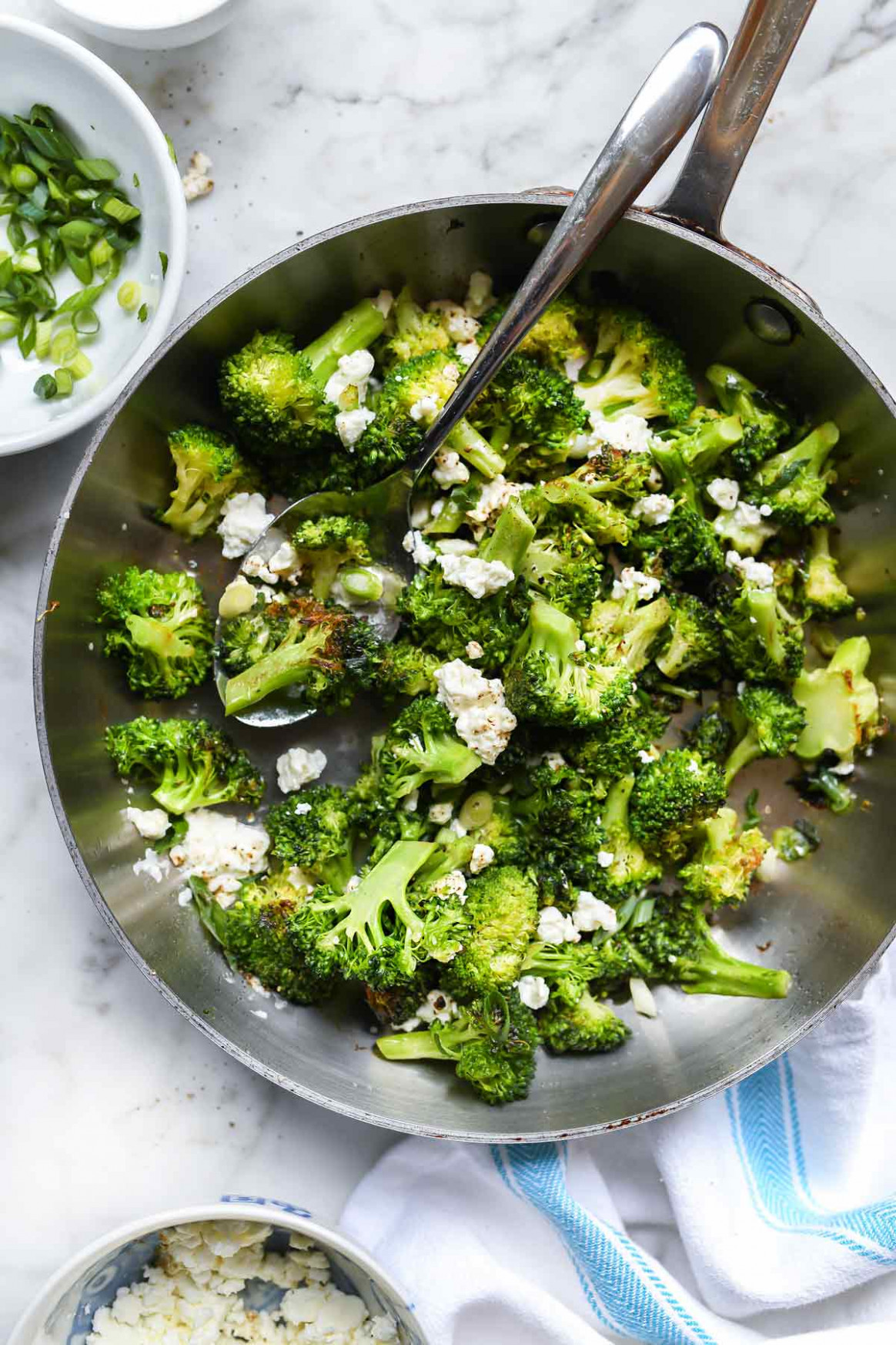 Easy Broccoli with Feta Cheese - feta cheese recipes vegetarian