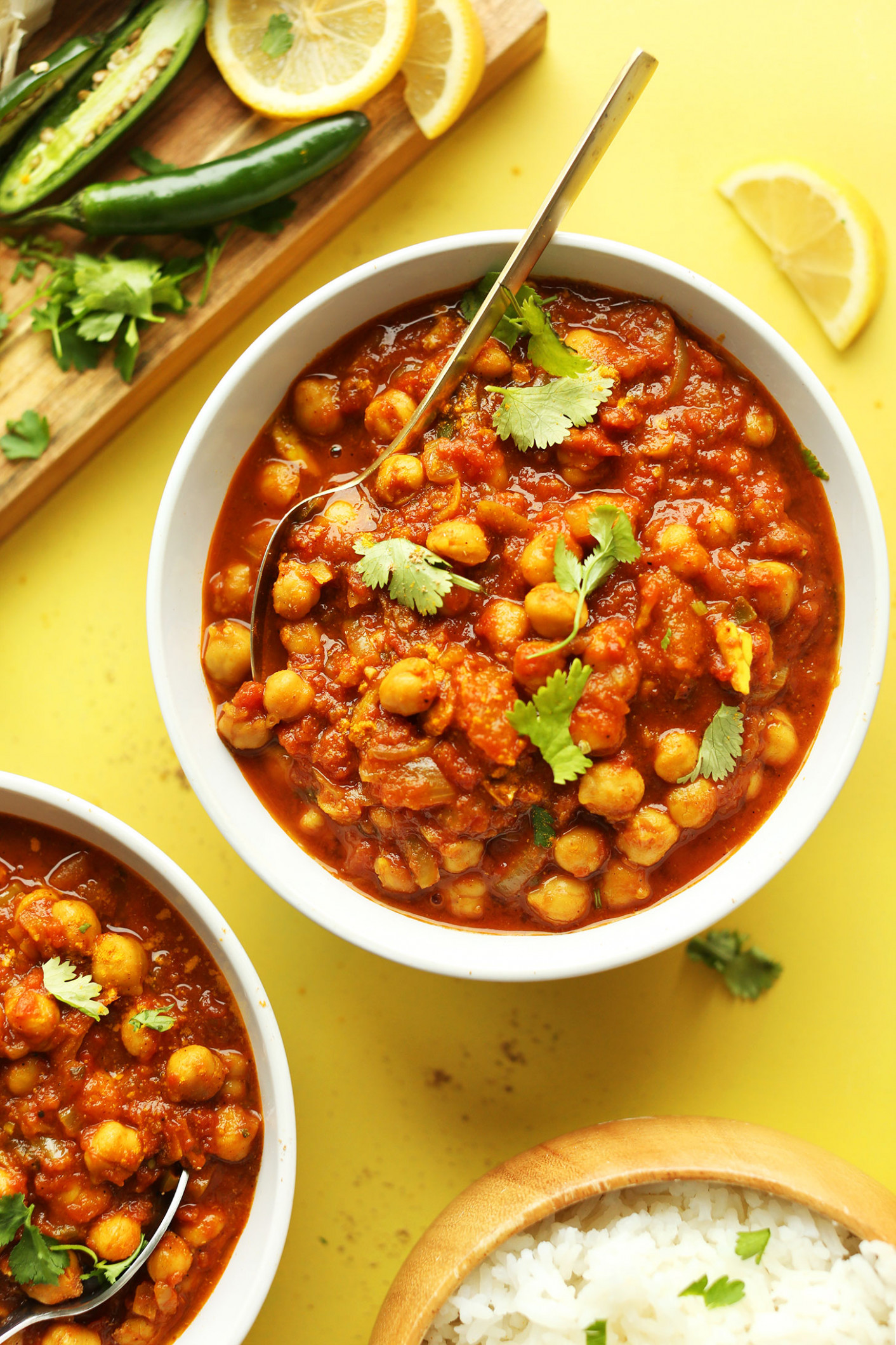 Easy Chana Masala - recipe vegetarian indian curry