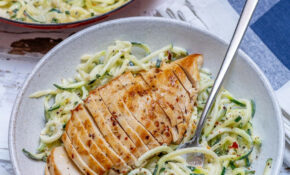 Easy Chicken Alfredo With Zoodles – Healthy Dinner Recipes Chicken