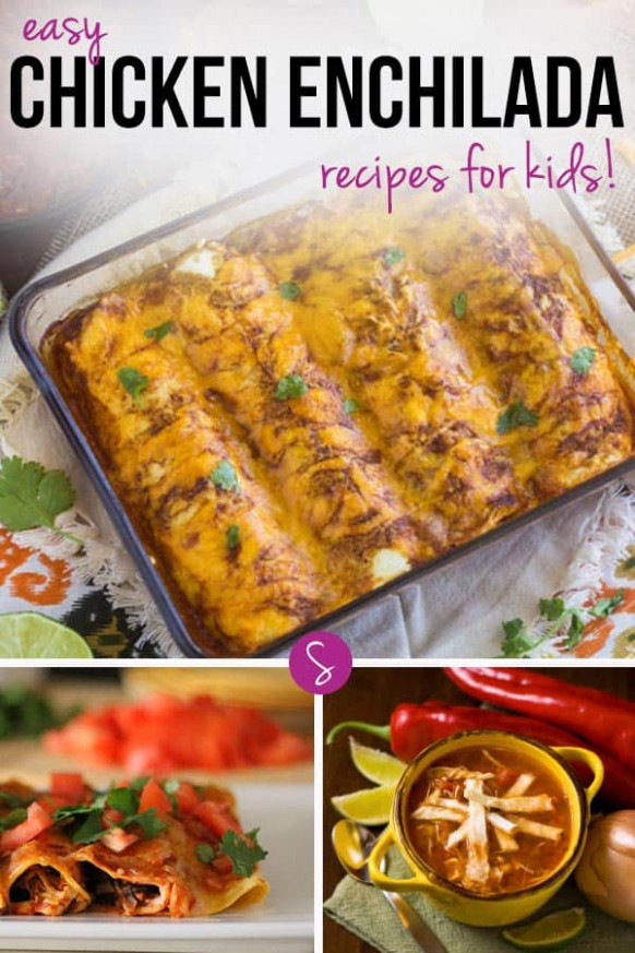 Easy Chicken Enchilada Recipes for Kids - chicken recipes for toddlers