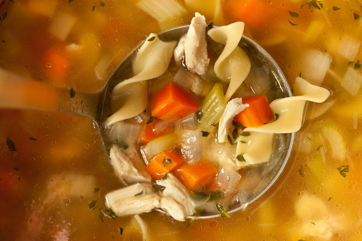 Easy Chicken Noodle Soup from a Leftover Roasted Chicken - healthy egg noodle recipes