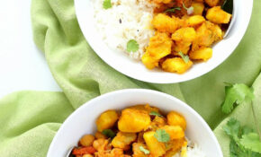 Easy Chickpea Curry Spiced Potato Bowl – Easy Indian Recipes Vegetarian