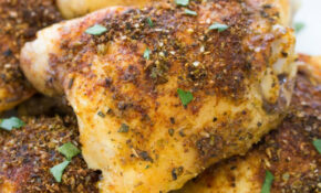 Easy Crispy Baked Chicken Thighs – Recipes On Baked Chicken