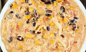 Easy Crock Pot Cream Cheese Chicken Chili – Yummy Healthy Easy – Easy Crock Pot Recipes Chicken
