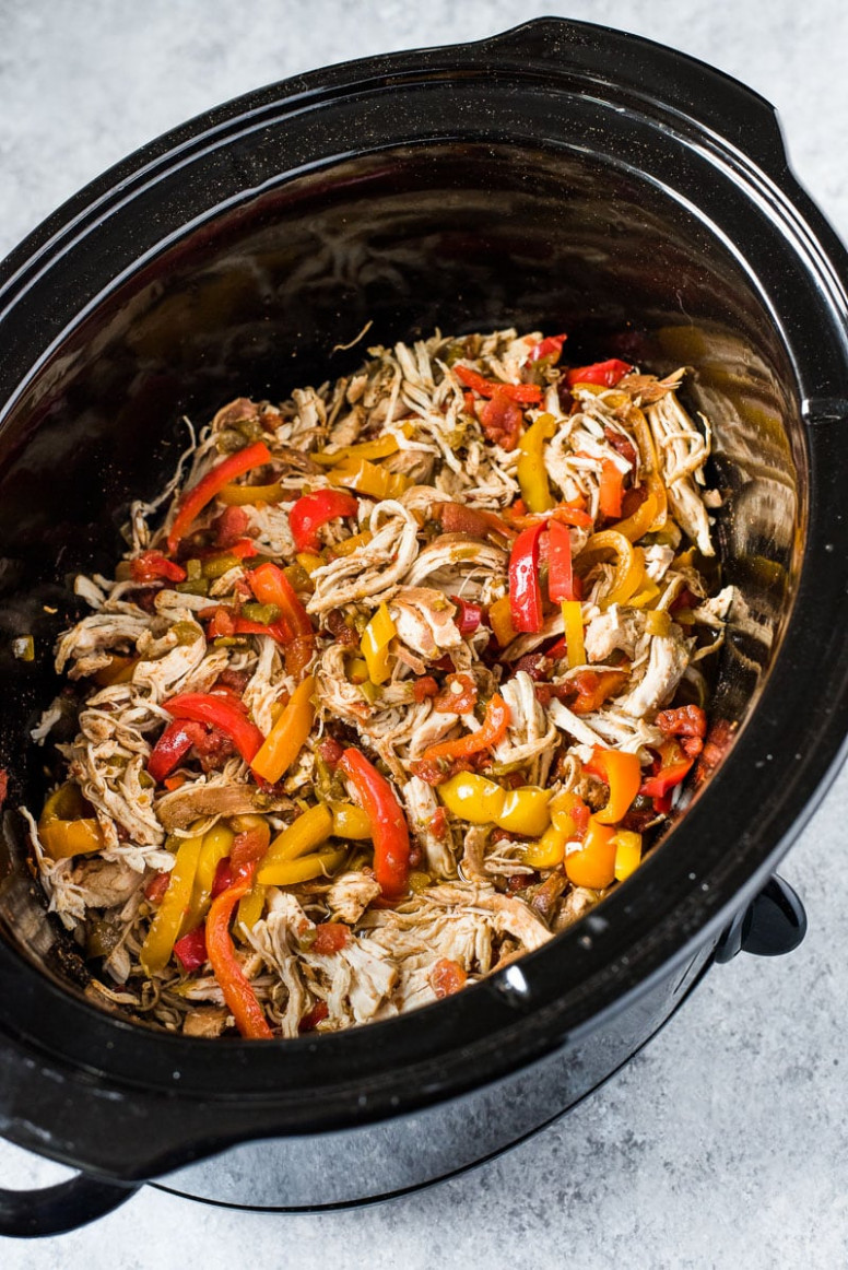 Easy Crockpot Chicken Fajitas - Isabel Eats - easy crock pot recipes chicken