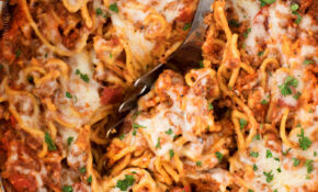 Easy Crockpot Spaghetti Casserole – The Chunky Chef – Healthy Easy Crockpot Recipes