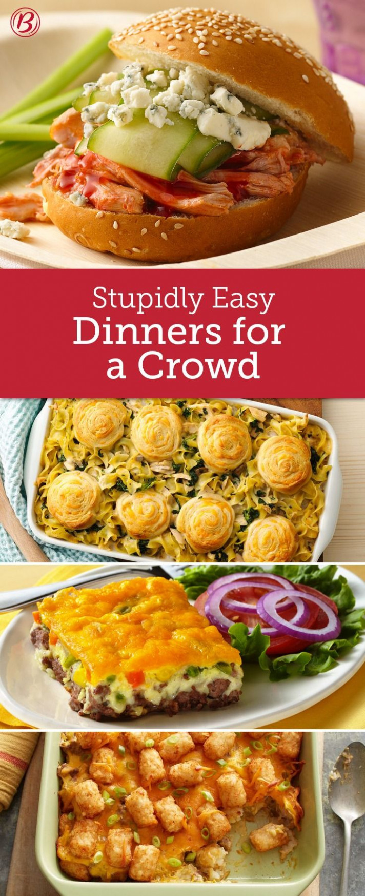 Easy Crowd-Size Dinners | Cooking for a crowd, Meals, Food ..