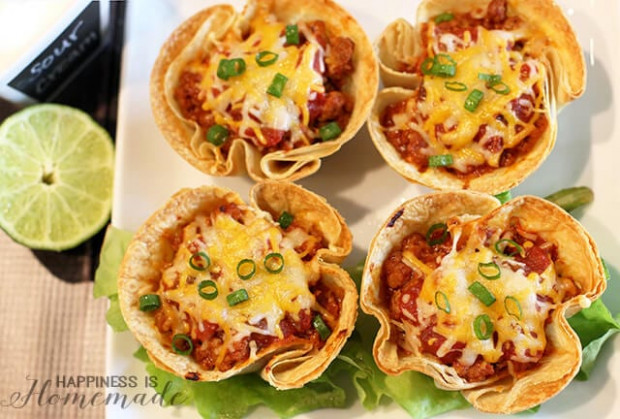 Easy Dinner Recipes: 30-Minute Taco Cups - Happiness is ..