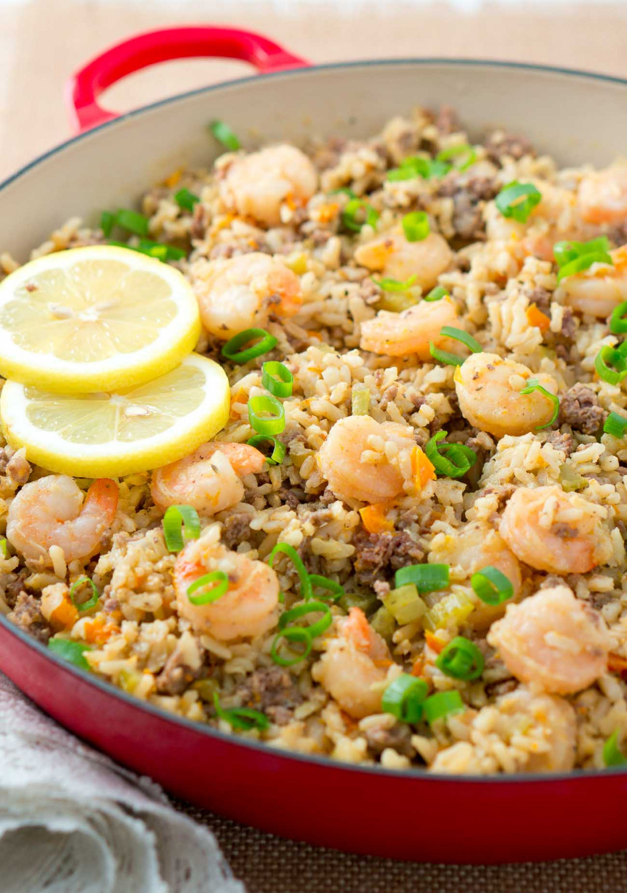 Easy Dirty Rice with Shrimp | Delicious Meets Healthy - healthy recipes rice