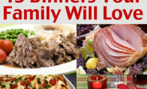 Easy Family Menu Ideas – Dinners Your Family Will Love ..