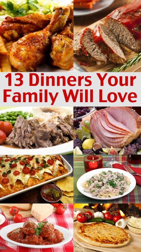 Easy Family Menu Ideas - Dinners Your Family Will Love ..