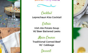 Easy Feasts: A St Patrick's Day Dinner Party – Pretty Mayhem – Recipes Dinner Party Main Course