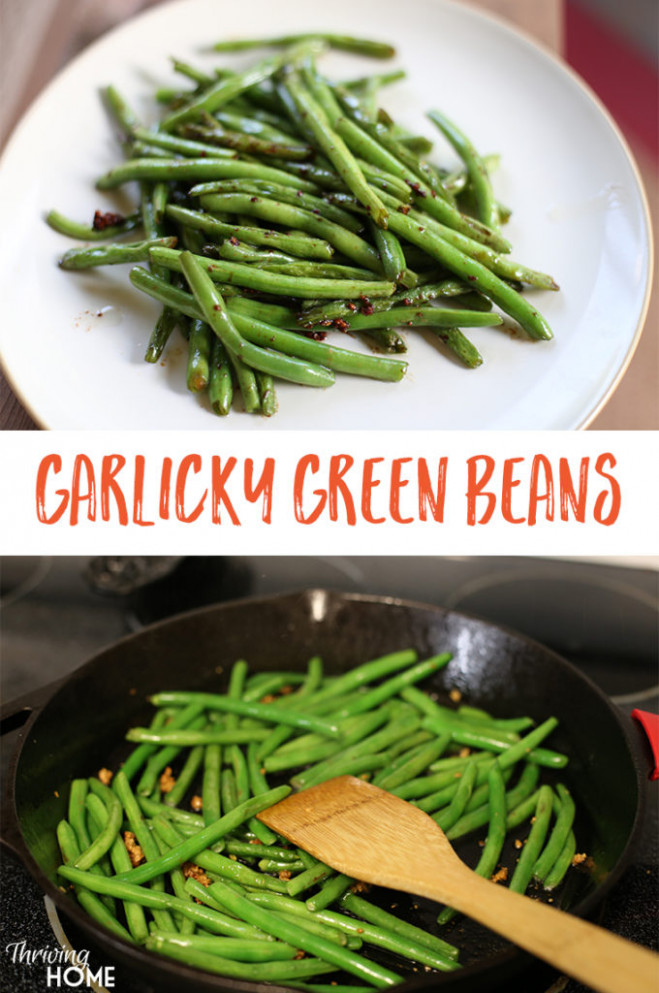 Easy Garlicky Green Bean Recipe | Thriving Home - recipes green beans healthy