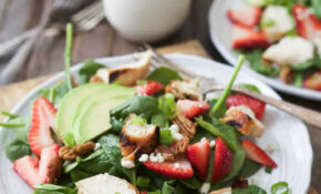 Easy Grilled Chicken Salad Recipe With Strawberries & Avocado – Chicken Recipes Easy Healthy